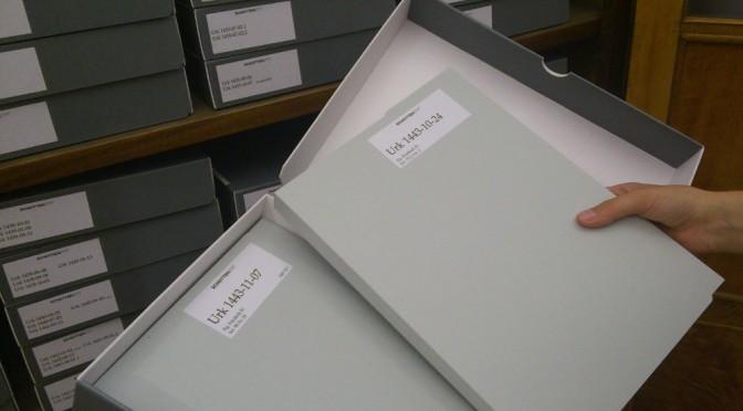 Neuverpackung der Urkundenreihe