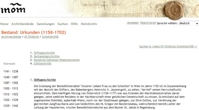 Urkunden auf Monasterium.net