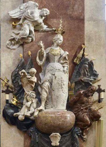 Grabdenkmal des Grafen Starhemberg in der Schottenkirche nach der Restaurierung 2015/2016