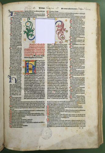 Ink. 258 (Hübl 303), fol. 1