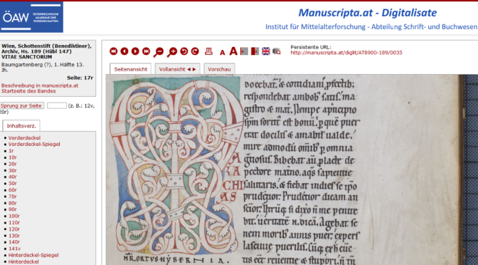 Digitalisate von acht Handschriften online