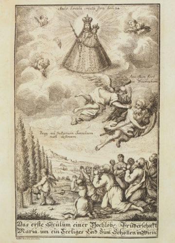StiA 05.Pfarr Scho 6/03.07. Festschrift zum hundertjährigen Bestehen der Bruderschaft Mariä um ein glückseliges Ende (1732).