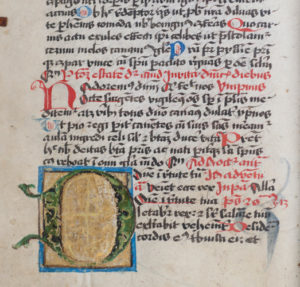Cod. 151 (Hübl 158), fol. 35v: Breviarium Mellicense.
