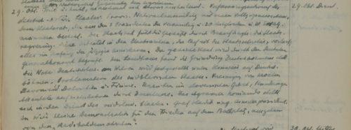 Stiftschronik, 29. Oktober 1918