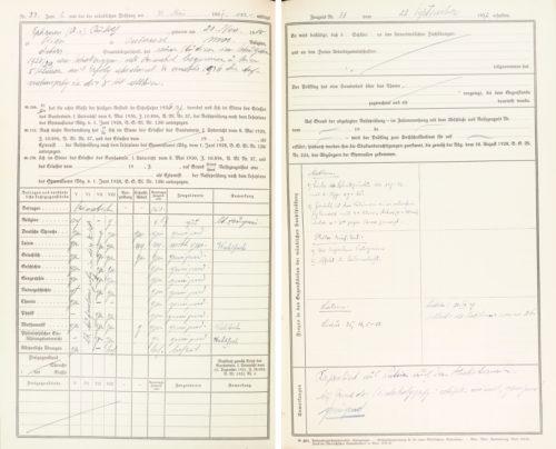 Hauptprotokoll über den Jahresabschluss der 8.Klasse und die Reifeprüfungen, Schuljahr 1936/37 (22.September 1937).
