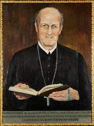Abt Heinrich Ferenczy (1988–2006), Porträt in der Äbtegalerie des Schottenstifts.