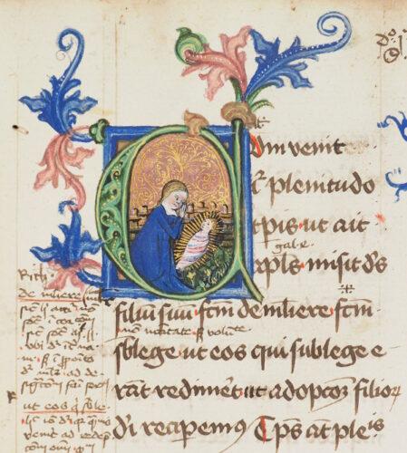 Cod. 257 (Hübl 262), fol. 5r (Ausschnitt): Petrus Lombardus, Sententiarum libri tertius et quartus: liber III, distinctio I (15. Jh.).