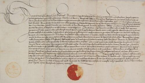 Scr. 1 Nr. 9 a). Bischöfliche Bestätigung der Wahl des Benedictus Chelidonius zum Abt des Schottenklosters (17. Juli 1518).
