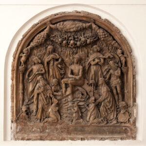 Epitaph des Johann Falkh im Mausoleum des Schottenstifts (1519). © Fotoabteilung, Institut für Kunstgeschichte, Universität Wien.